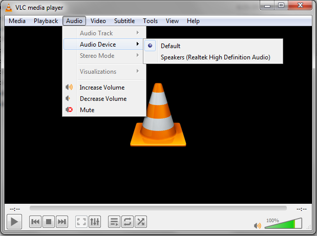vlc-haiku-audio-output